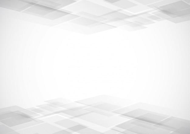 De abstracte moderne achtergrond van de technologie witte en grijze kleur Premium Vector
