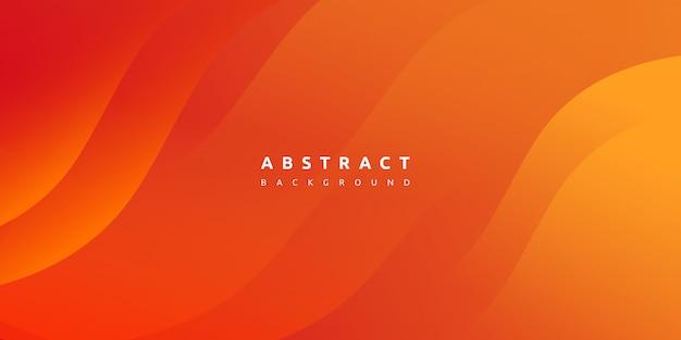 De abstracte moderne kleurrijke achtergrond van de gradiënt oranjegele kromme Premium Vector