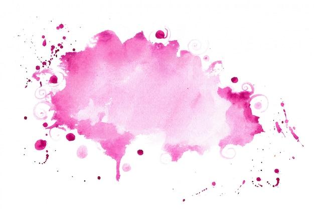 De abstracte roze schaduwwaterverf ploetert textuurachtergrond Gratis Vector