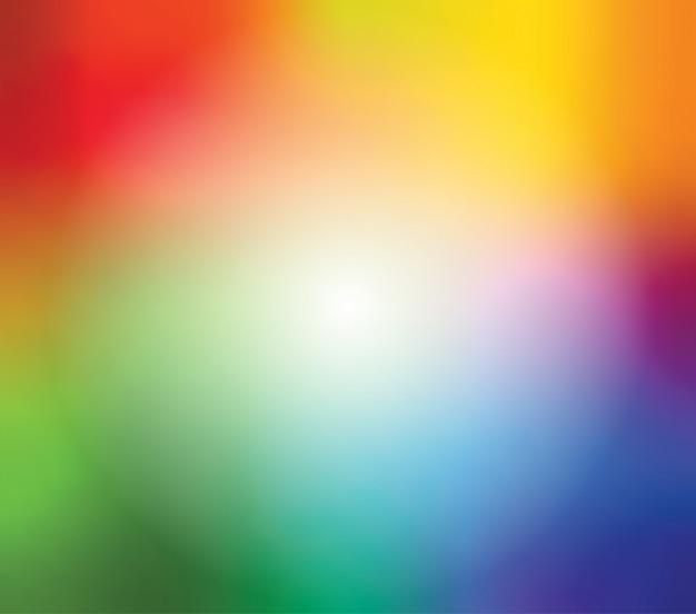 De abstracte vage achtergrond van het gradiëntnetwerk in heldere regenboogkleuren Premium Vector