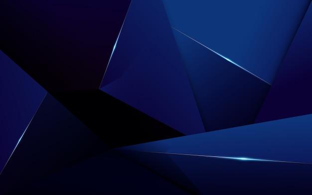 De abstracte veelhoekige donkerblauwe achtergrond van de patroonluxe Premium Vector