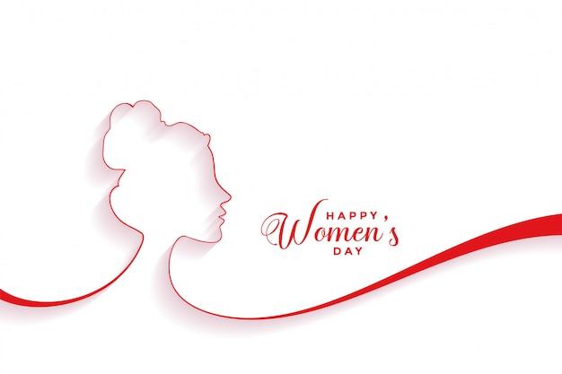 De achtergrond van de de daggebeurtenis van creatieve gelukkige vrouwen Gratis Vector