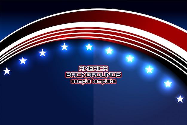 De achtergrond van de vs voor onafhankelijkheidsdag Premium Vector