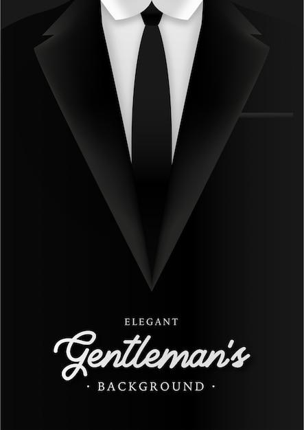 De achtergrond van elegant gentleman met bedrijfsmensensuite Gratis Vector