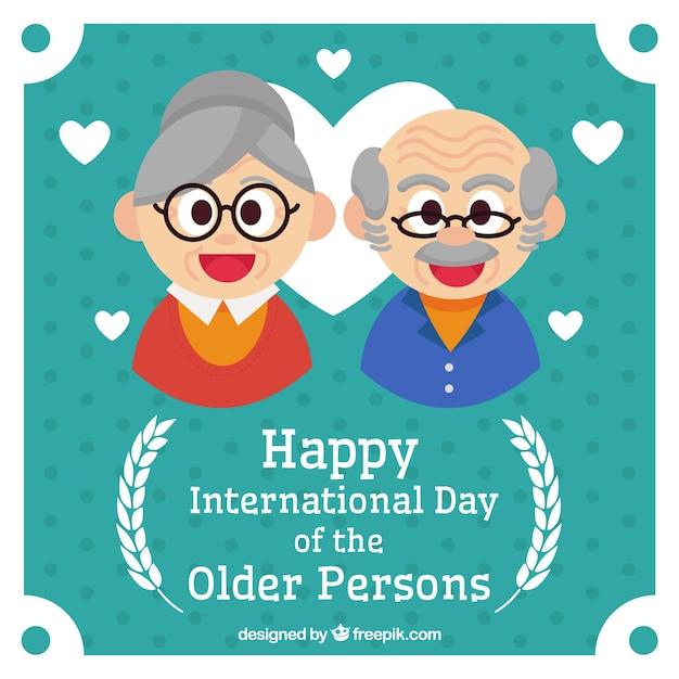 De achtergrond van nice viering van de ouderen Gratis Vector