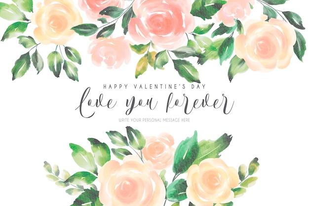De achtergrond van romantisch valentine met zachte aard Gratis Vector