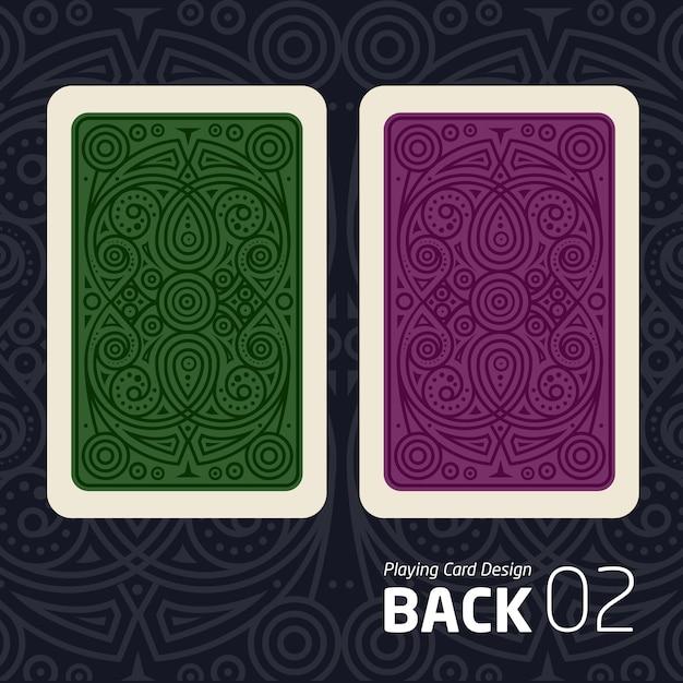 De achterkant van een speelkaart voor een ander spel met een patroon. Premium Vector