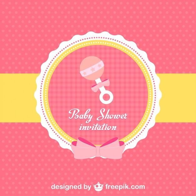 De baby shower uitnodiging Gratis Vector