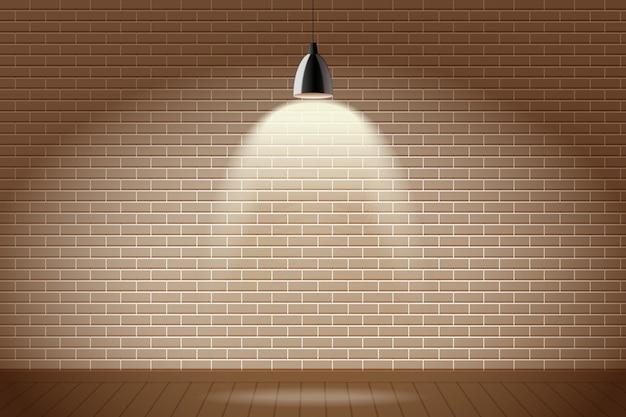 De bakstenen muur met vlek steekt achtergrond aan Gratis Vector