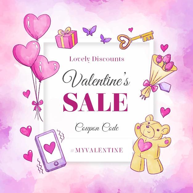 De banner van de de dagverkoop van de teddybeervalentijnskaart Gratis Vector