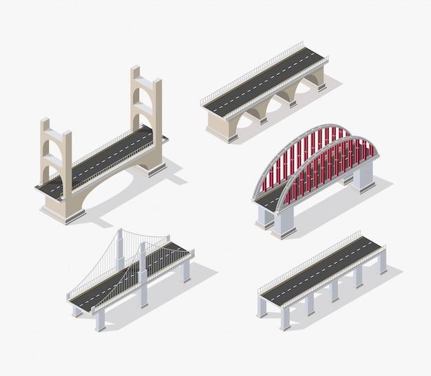 De brugbrug van stedelijke infrastructuur Premium Vector