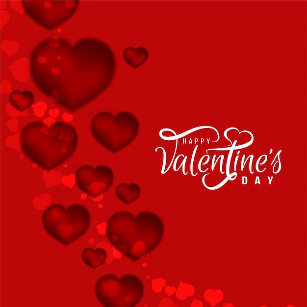 De dag mooie achtergrond van abstracte gelukkige valentijnskaart Gratis Vector