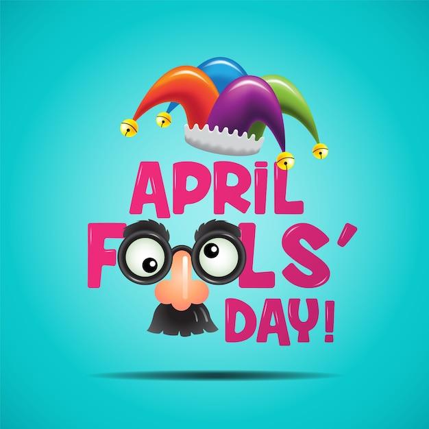 De dwaze dag van april Premium Vector