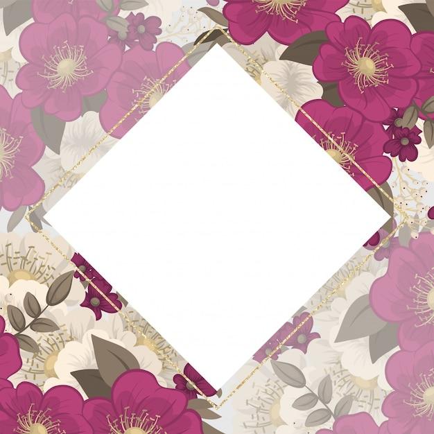 De hete roze bloemen van de visitekaartjes van de bloem Gratis Vector
