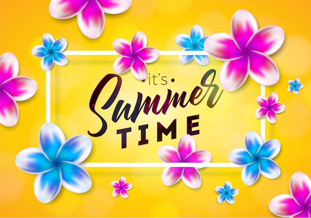 De illustratie van de zomertijd Premium Vector