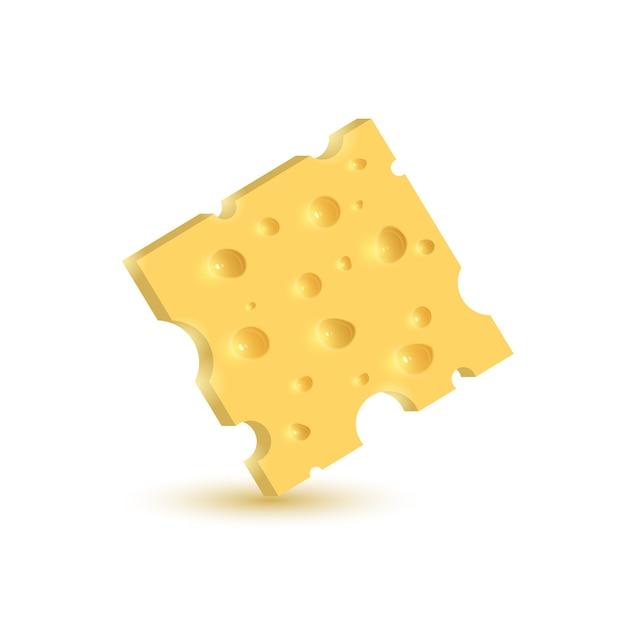 De kaas. illustratie op witte achtergrond. Premium Vector