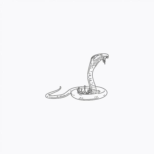 De king cobra Premium Vector