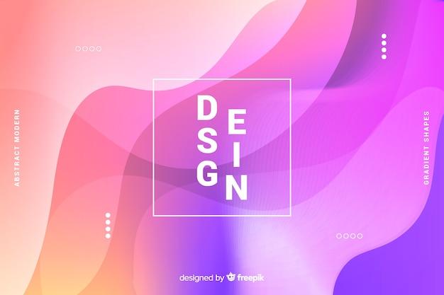 De kleurrijke abstracte gradiënt vormt achtergrond Gratis Vector