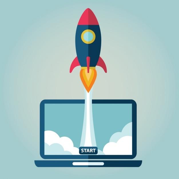 De lancering van een website Gratis Vector