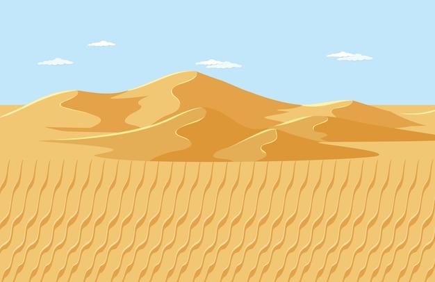 De lege scène van het woestijnlandschap Gratis Vector