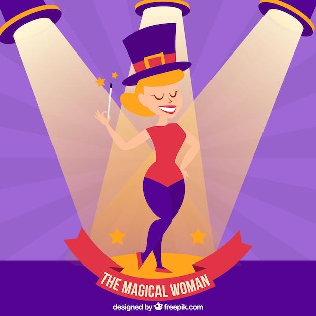De magische vrouw illustratie Premium Vector