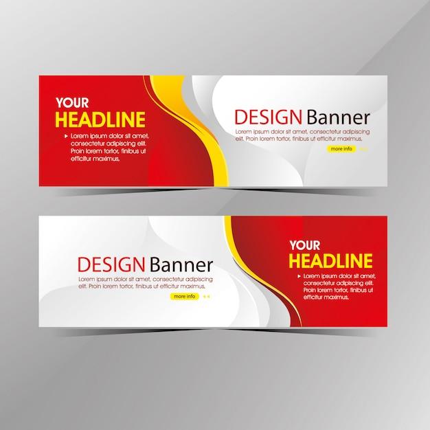 De moderne schone witte en rode banner van het webmalplaatje, de kortingsbanners van de bevorderingsverkoop Premium Vector