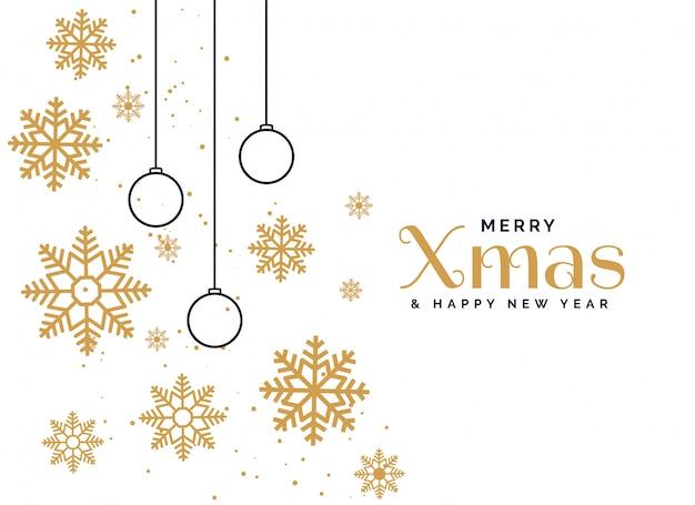 De mooie vrolijke achtergrond van de kerstmisgroet Gratis Vector