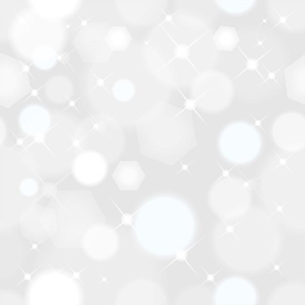 De naadloze abstracte kerstmisachtergrond met lichten fonkelt met zachte bokeh Premium Vector
