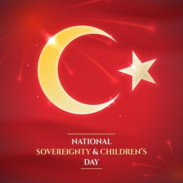 De nationale soevereiniteit en de dag van de kinderen Gratis Vector