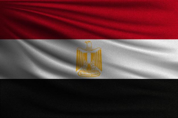 De nationale vlag van egypte. Premium Vector