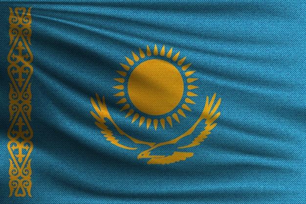 De nationale vlag van kazachstan. Premium Vector