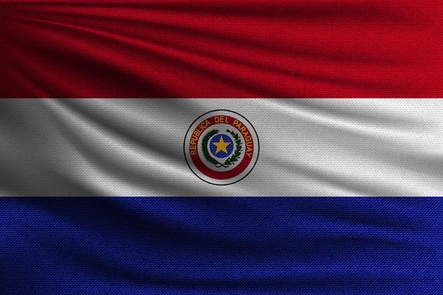 De nationale vlag van paraguay. Premium Vector