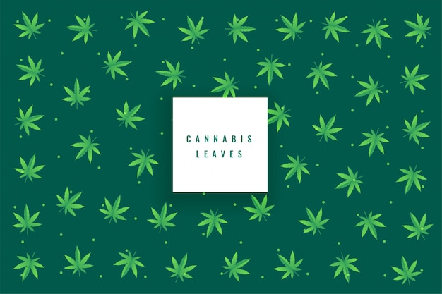 De natuurlijke marihuanacannabis verlaat patroonachtergrond Gratis Vector