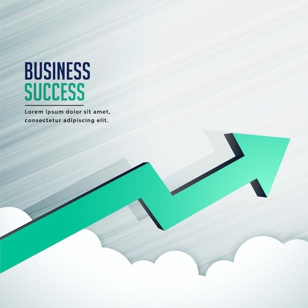 De pijl die van de bedrijfssuccesgroei snel vooruit gaat Gratis Vector