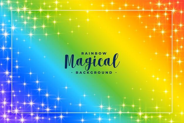 De regenboog kleurt achtergrond met fonkelingen Gratis Vector