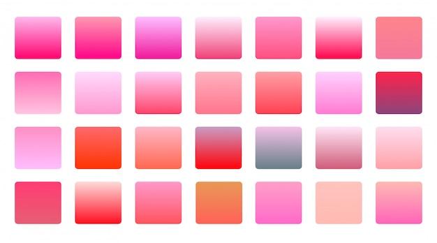 De roze grote vastgestelde achtergrond van kleurengradiënten Gratis Vector
