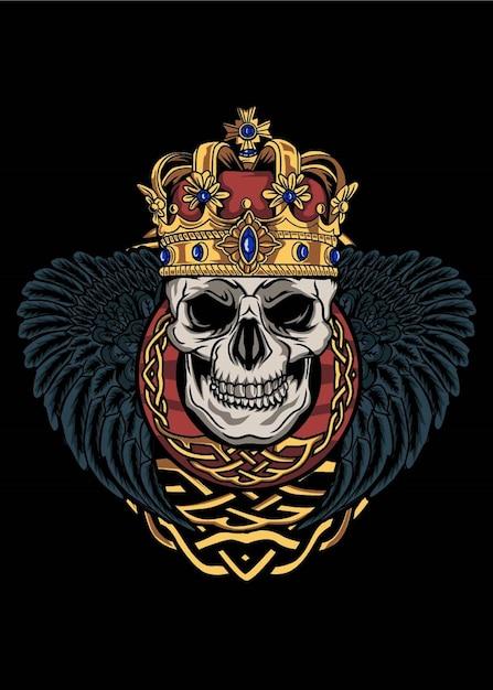 De schedel van koningen Premium Vector