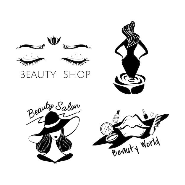 De schoonheid en de modeembleemvector van vrouwen Gratis Vector