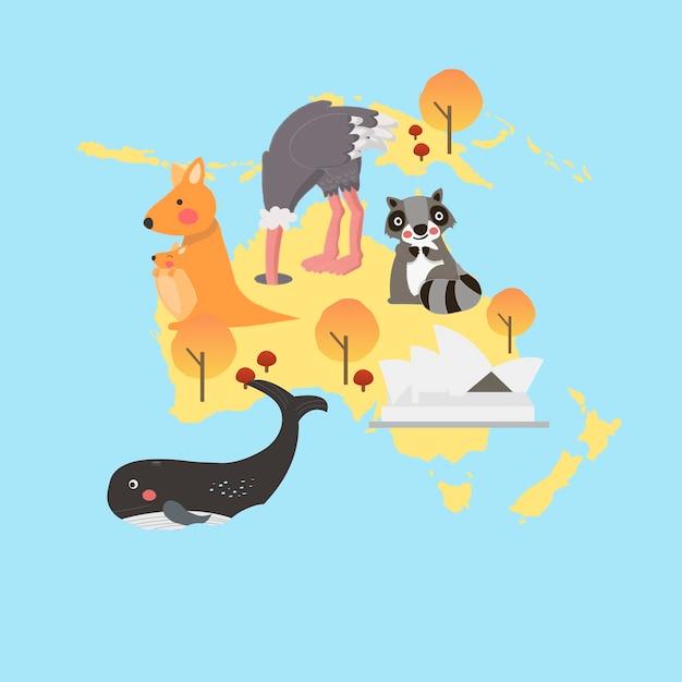 De stijlreeks van de illustratietekening van het wildhabitats Gratis Vector