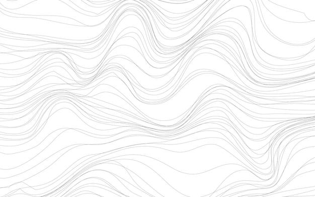 De texturen witte achtergrond van de golf Gratis Vector