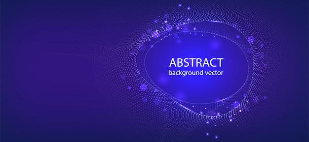 De vector abstracte blauwe achtergrond van het motie lichte effect. voor zaken, wetenschap, technologieontwerp. Premium Vector