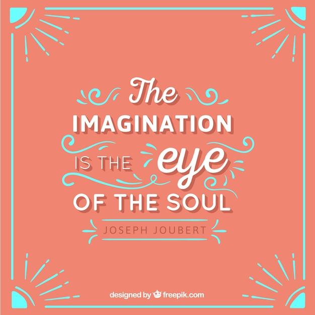 De verbeelding is het oog van de ziel Gratis Vector