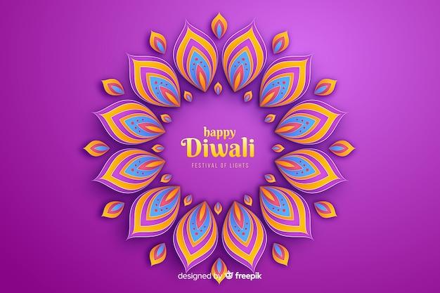 De vieringsachtergrond van diwali feestelijke ornamenten Gratis Vector