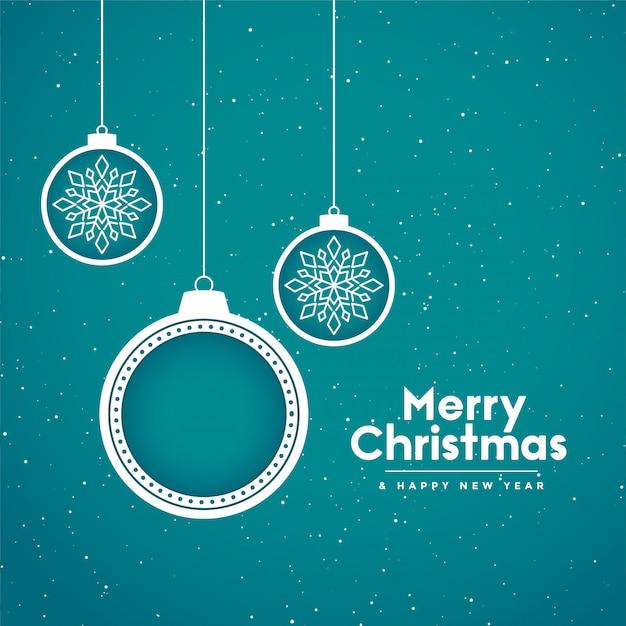 De vrolijke achtergrond van de kerstmisvakantie met decoratieve ballen Gratis Vector