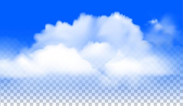 De wolken realistische vector Premium Vector