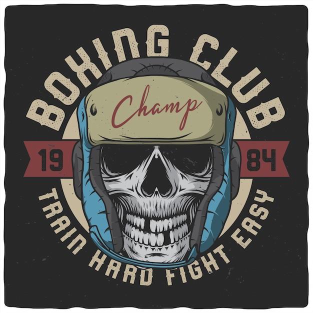 Dead boxer illustratie Premium Vector