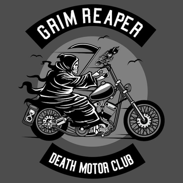 Death motorcycle club Premium Vector