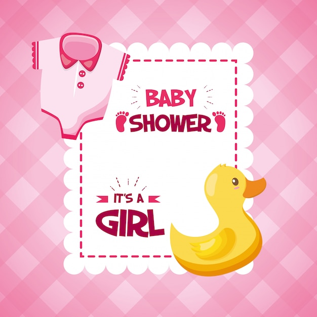 Decoratie voor baby shower Gratis Vector
