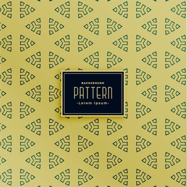Decoratief driehoekig naadloos patroonontwerp Gratis Vector