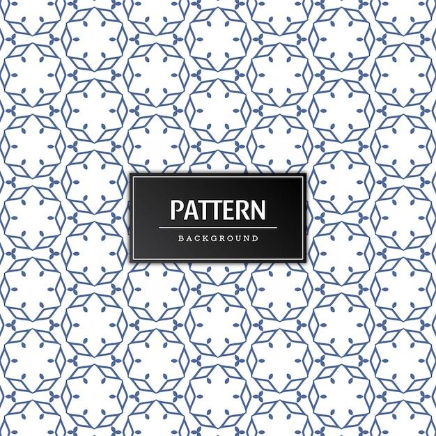 Decoratief naadloos patroon Gratis Vector